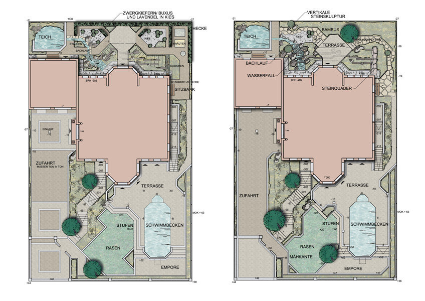 Hausgärten Private Parkanlagen Calles De Brabant